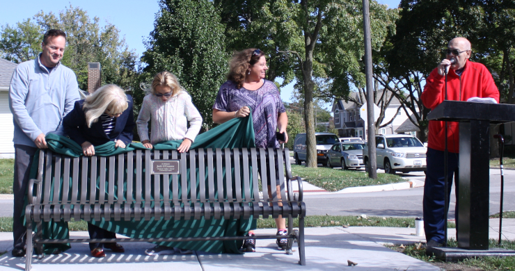 Community Park Bench Unveiling in 2018