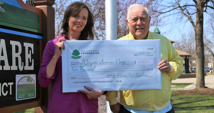 Palatine Park Foundation Donates to ICompete Summer Camp